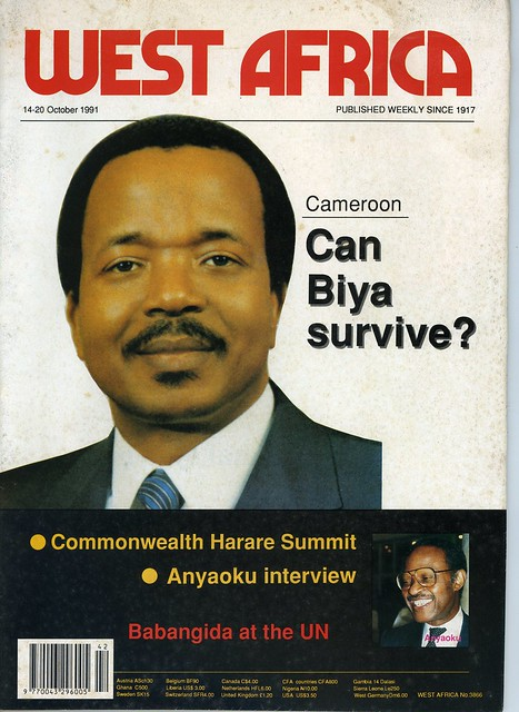 west africa 1991-10-14-20 Cameroon Can Biya survive Nigeria Babangida at the UN