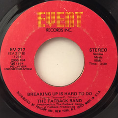 THE FATBACK BAND:KEEP ON STEPPIN'(LABEL SIDE-B)