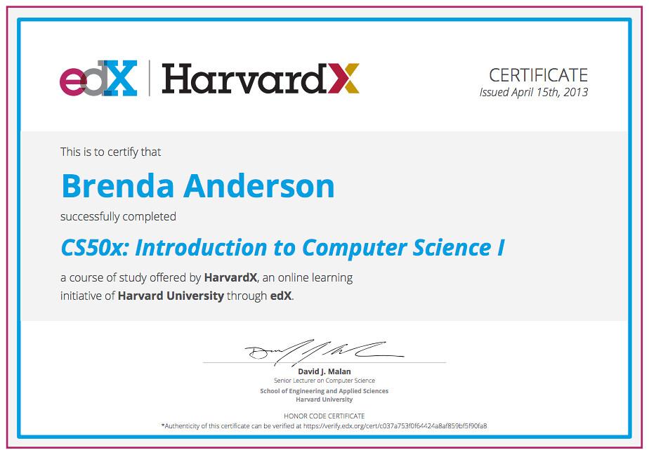 edx certificate   Brenda Anderson   Flickr