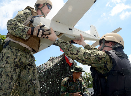 Sailors prepare a UAV. | by Official U.S. Navy Imagery