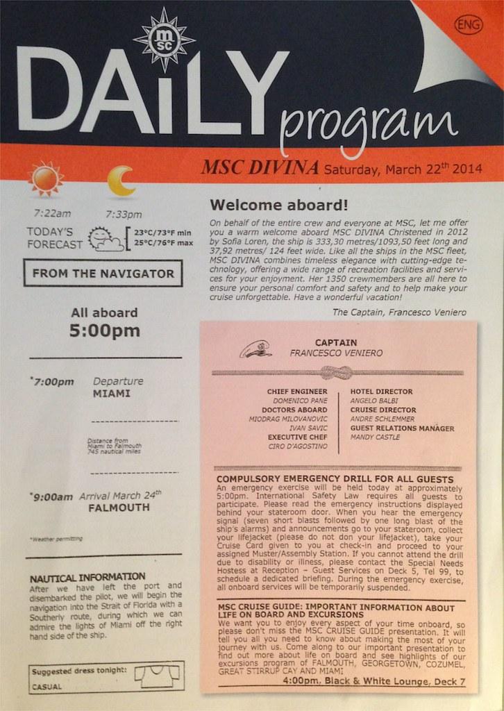 daily program
