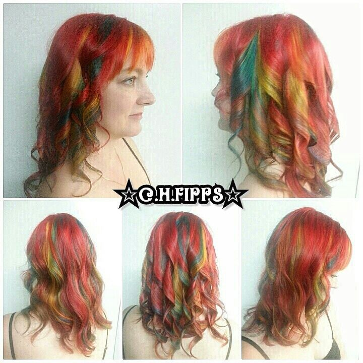 Candy Swirl Layered Vivid Hair Color Candy Swirl Layered V Flickr