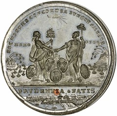 1783 Treaty of Paris Medal obverse