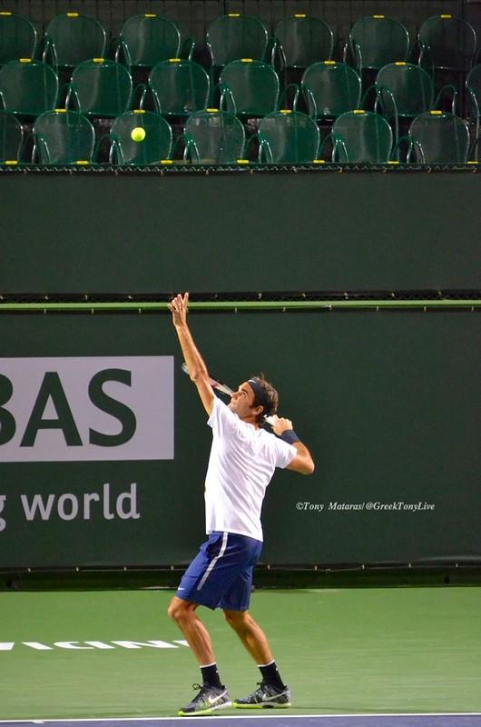 Roger Federer at practice