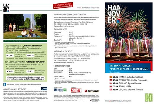 HERRENHAUSEN FIREWORKS COMPETITION 2017