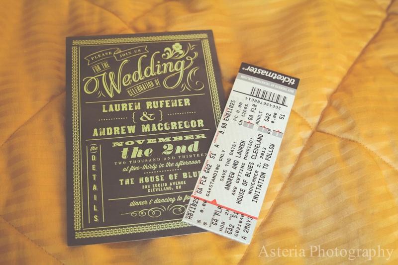 Wedding Invitation And Concert Ticket Save The Date Andrew Lauren
