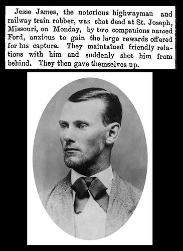 3rd April 1882 - Jesse James killed by the Ford brothers | by Bradford Timeline