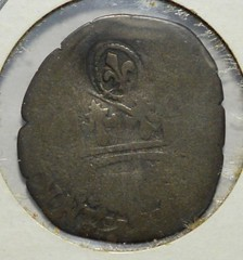 1640 French Colonial Fleur de lis Counterstamp obverse