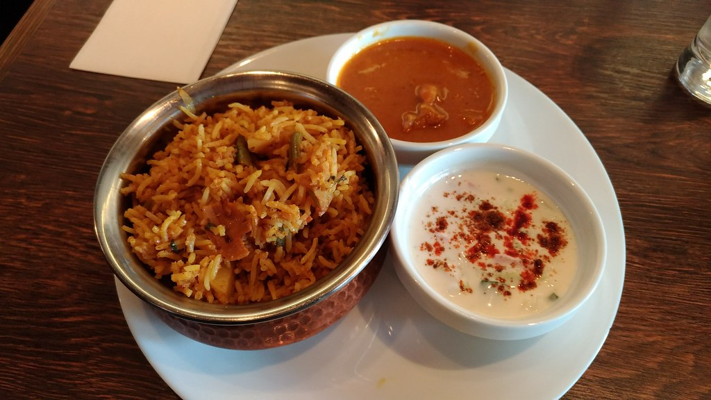 「Indian Restaurant SONIA 」のビリヤニランチ