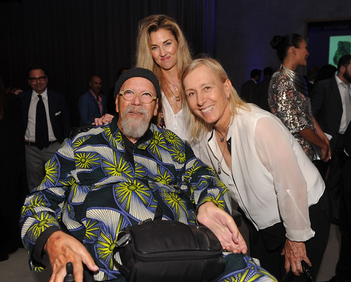 Chuck Close, Suzanne Scott, & Martina Navratilova at PAMM Art of the Party Presented by Valentino