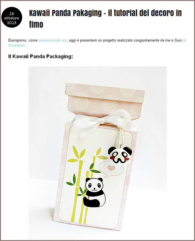 Le Idee Della Vale Kawaii Panda Pakaging Il Tutorial De Flickr