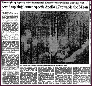 7th December 1972 - Apollo 17 Launches | by Bradford Timeline
