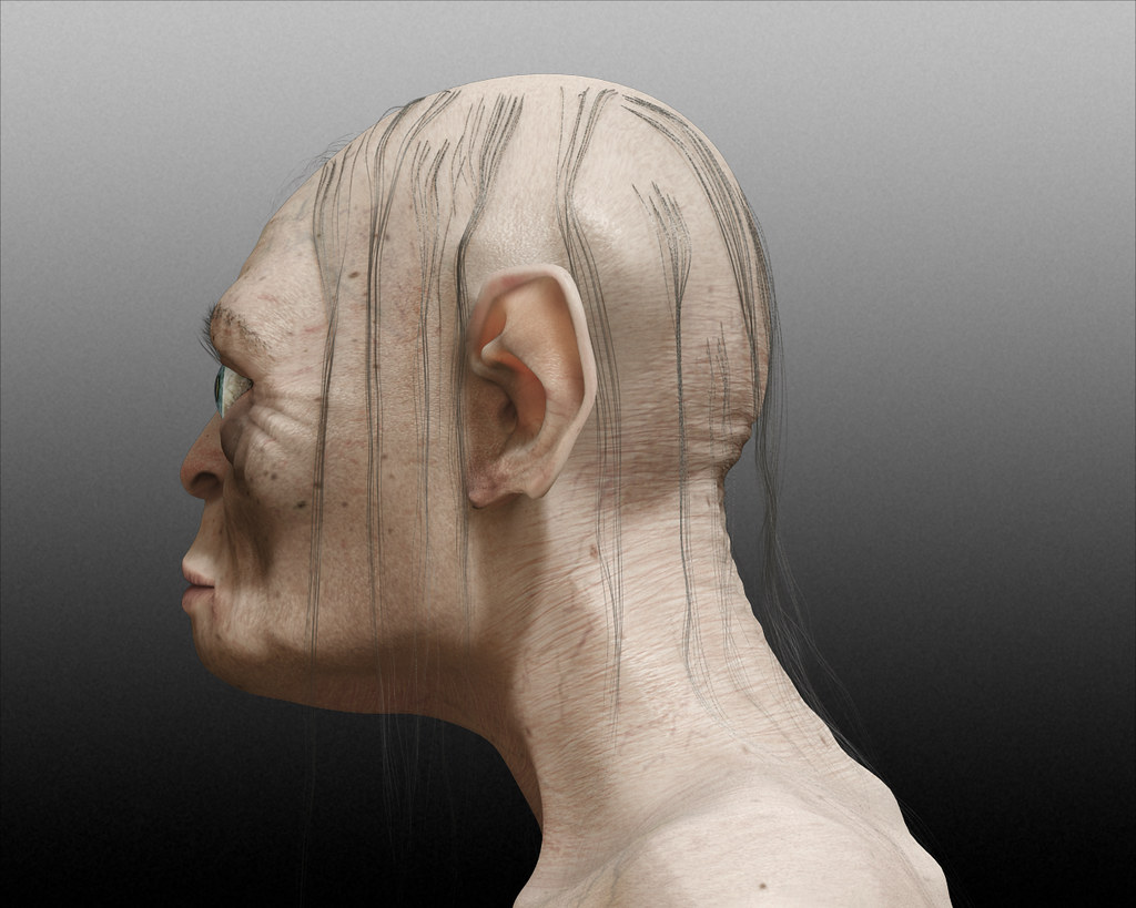 gollum portrait side view reference looking at different p flickr