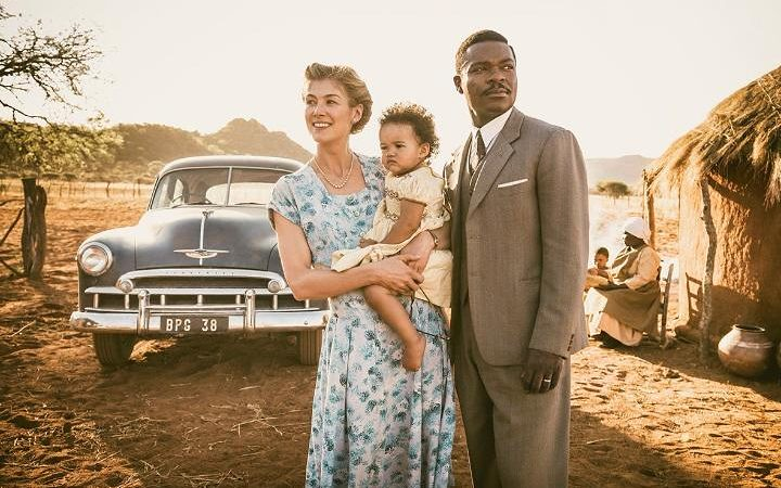 Rosamund Pike and David Oyelowo are continent-crossed lovers in A UNITED KINGDOM.