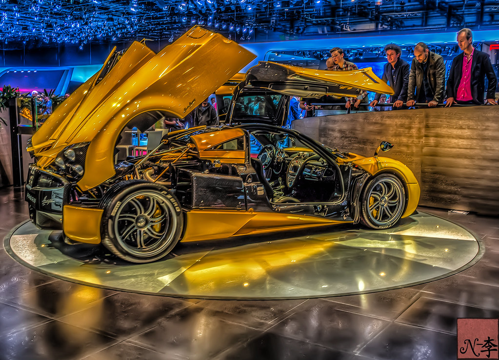 ... Yellow Zonda Pagani Huayra At Geneva Motor Show 2014 (1 Of 1) | By