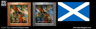 "The Druids: Bringing In The Mistletoe"" - Hermetic Symbolist Flag 