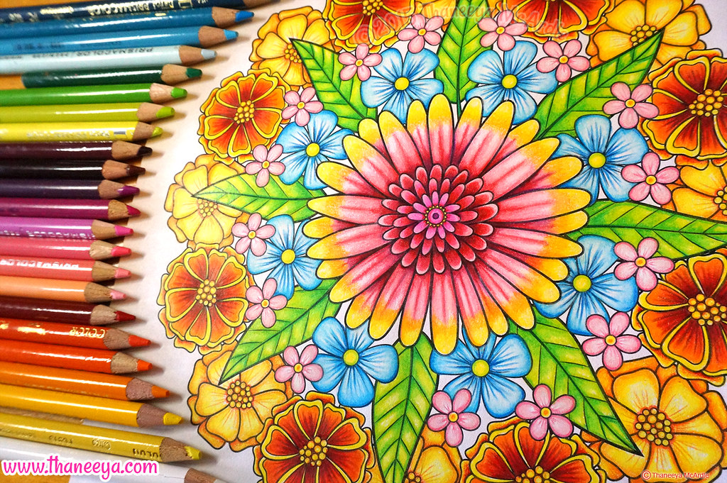 ... Flower Mandala Coloring Page By Thaneeya McArdle | By Thaneeya