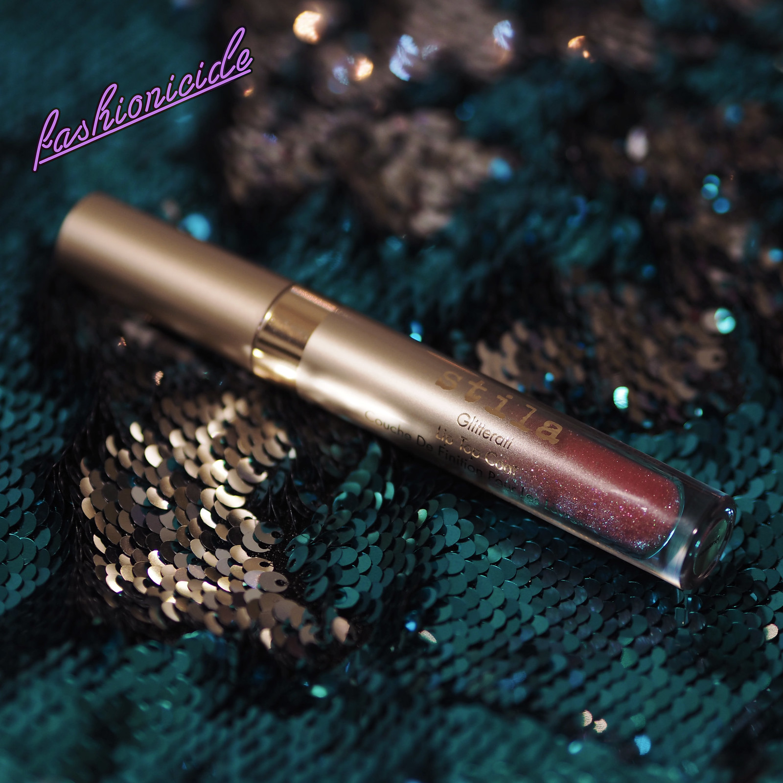 Stila Glitterati Lip Top Coat Review Dark Skin