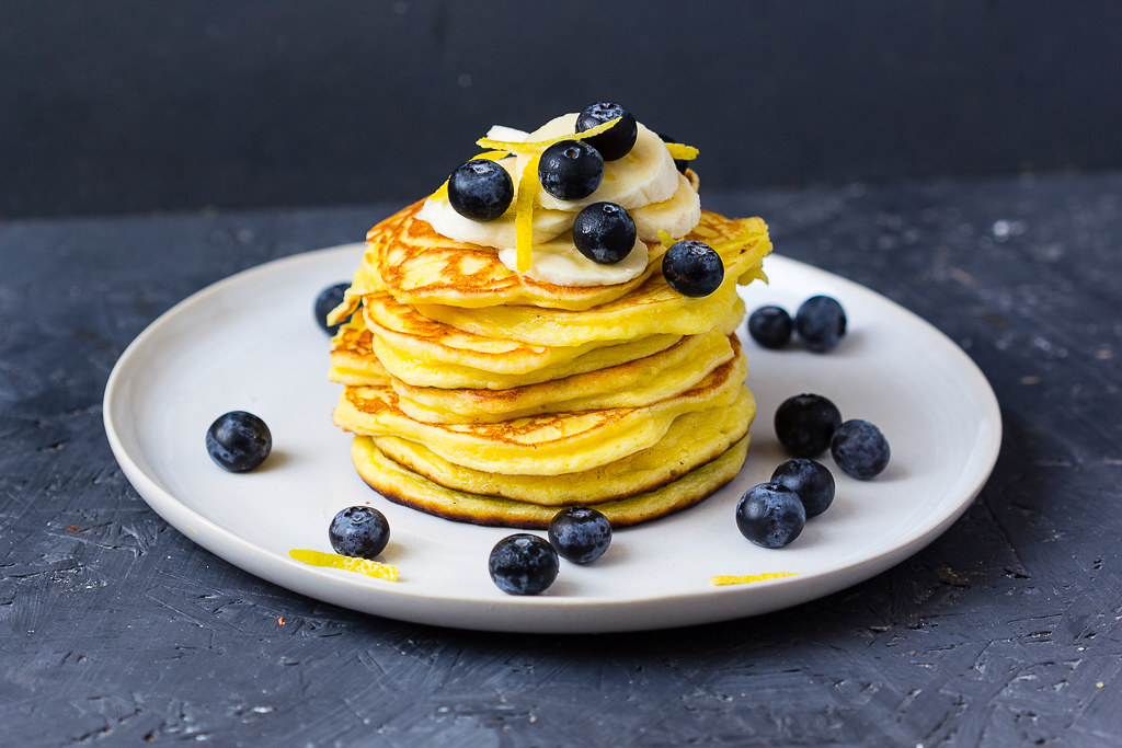 Zitronen Pancakes via lunchforone