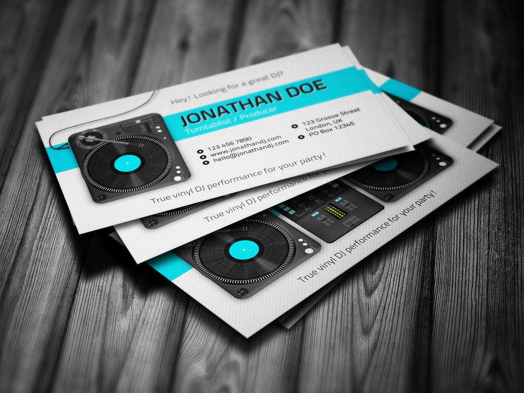 Turntablist dj business card template turntablist dj busin flickr turntablist dj business card template by iamvinyljunkie flashek Choice Image