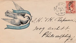 NOV, 24, 1884 GUNTHER postal cover