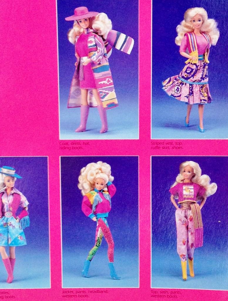 1989 western fun barbie fashion 9950 asst 9955 by the barbie room - Barbie Fe