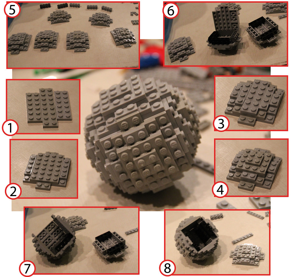 Lego Sphere Building Instructions How To Build A Lego Ball Flickr