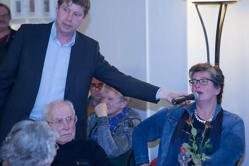 Jetta Klijnsma en John Kerstens in Rode Kafé