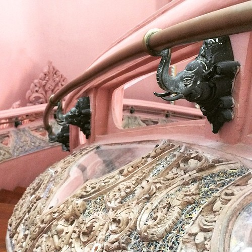 The hand rail of the staircase inside the elephant museum | by sourjayne
