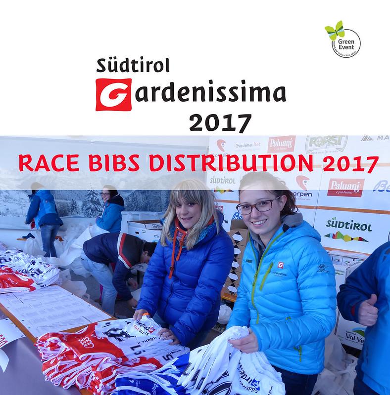 RACE-BIBS DISTRIBUTION Südtirol Gardenissima 2017
