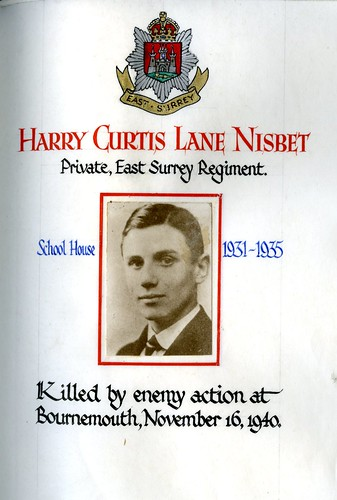 Nisbet, Harry Curtis Lane (1917-1940) | by sherborneschoolarchives