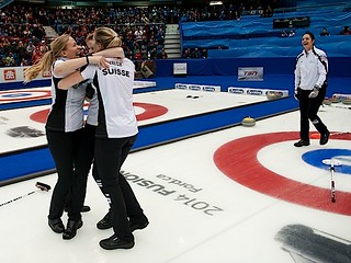 Saint John N.B.Mar23_2014.Ford World Woman's Curling Championship.Gold Medal Team Switzerland.CCA/michael burns photo | by seasonofchampions