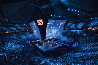 The Arena During the Grand Final | by Dota 2 The International
