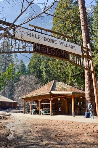 Half Dome Village Temporary Sign