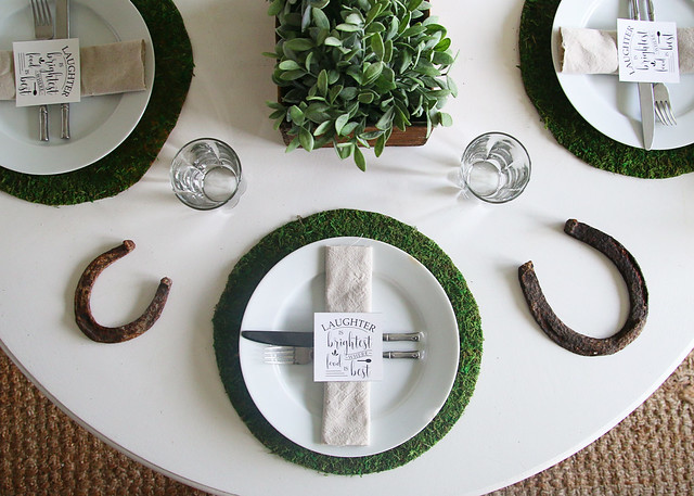 St. Patricks Day Moss Proverb Horseshoe