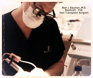 Dr. Alan Bauman performing NeoGraft FUE Hair Transplant | by Dr_Alan_Bauman