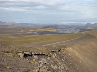 118 Uitzicht bij explosiekrater Ljötipollur