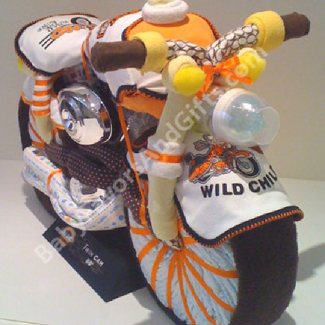 Harley Davidson Motorcycle Diaper Cake Unique Baby Shower Flickr