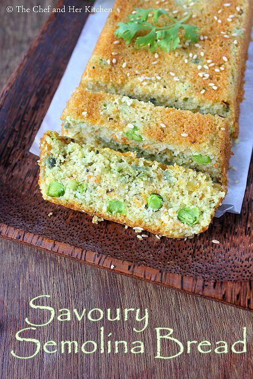 savoury semolina bread