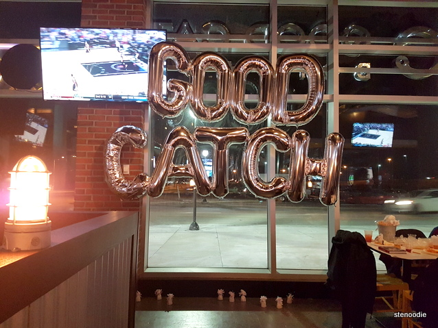 Good Catch party balloons