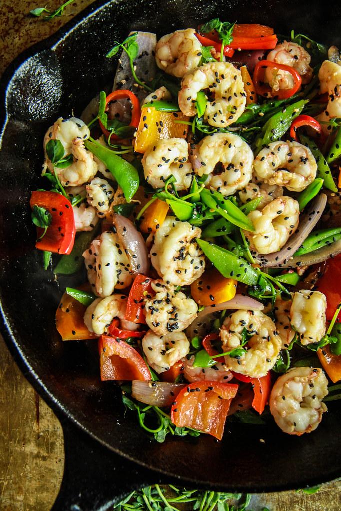 Paleo Shrimp Stir Fry from HeatherChristo.com