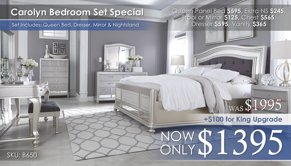 Carolyn Bedroom Set B650-31-136-46-158-56-97-93-22-25-01-Q755