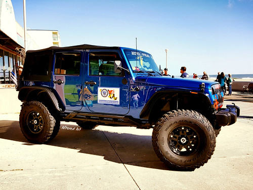 Jeep Wrangler on the Ocean City boardwalk | by delmarvausa