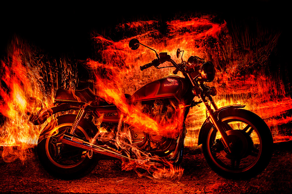 Photo Collection Ghost Rider Motorcycle Fire