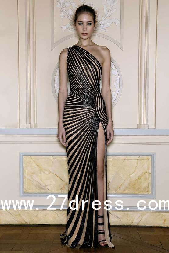 2013 Zuhair Murad Spring Dresses Sheath/Column Black Sequi… | Flickr