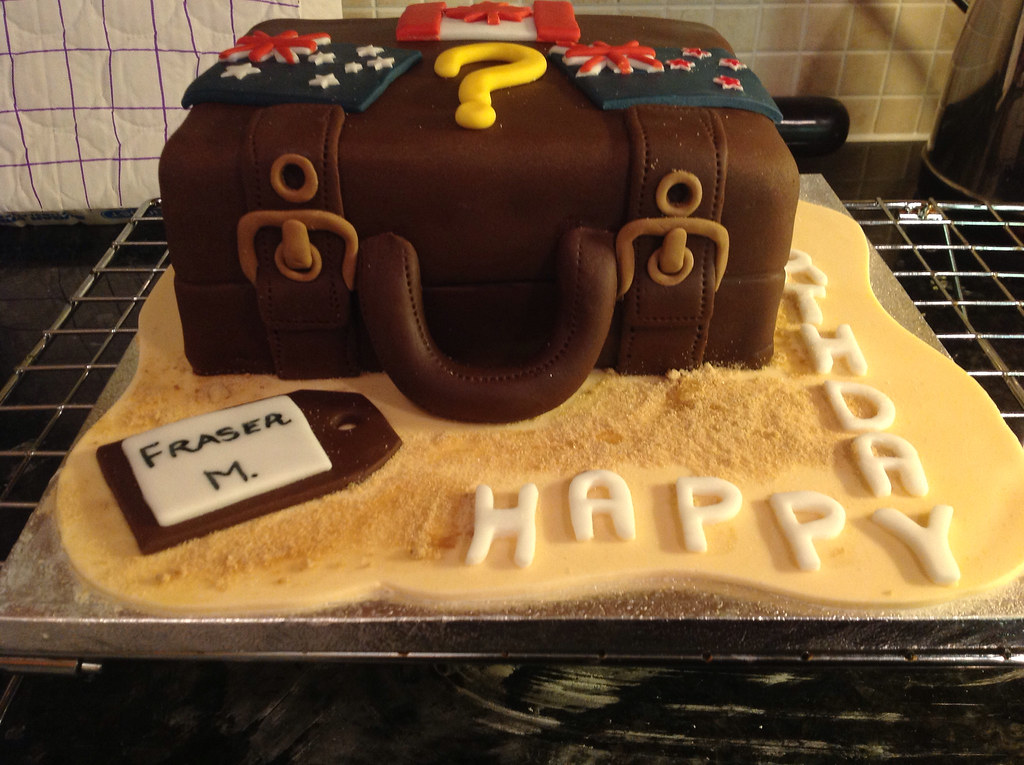 Holiday Suitcase Birthday Cake With Canadian Australian A Flickr