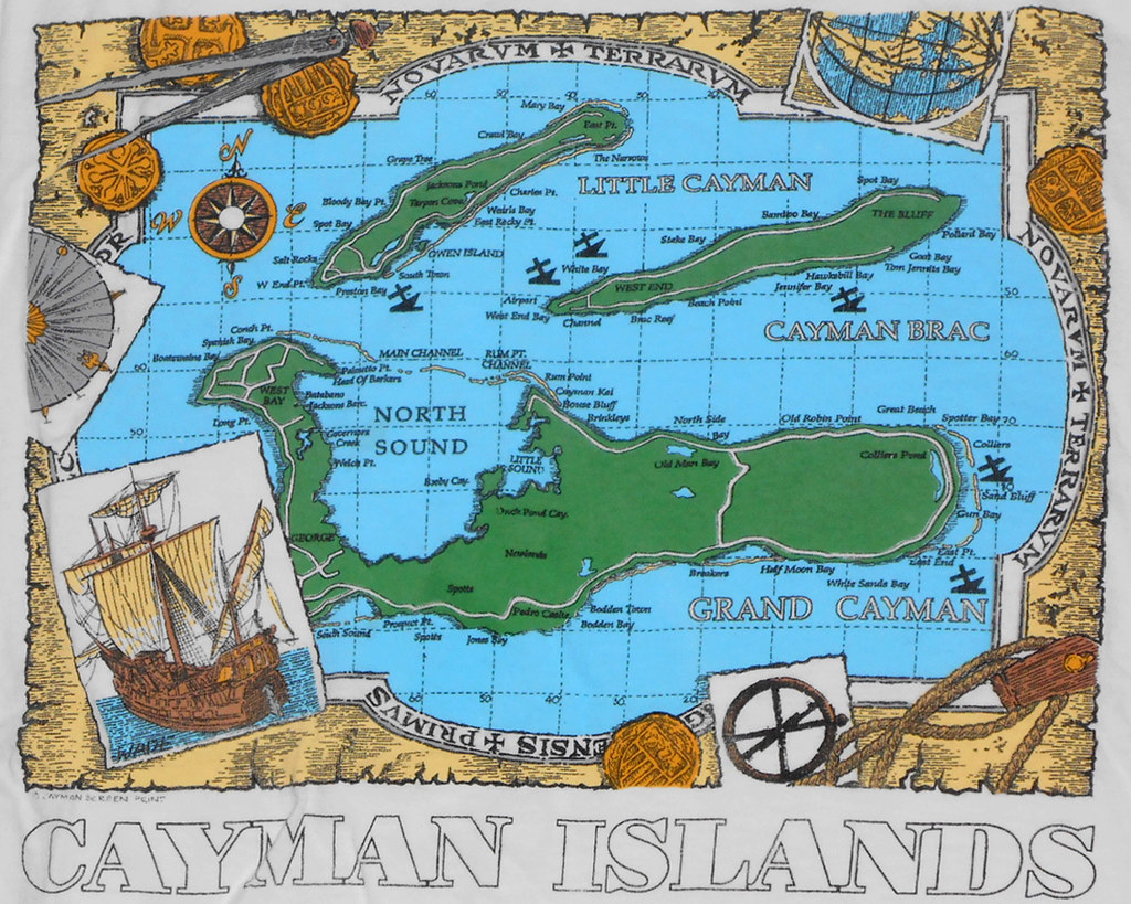 Where can you buy a physical map of the Cayman Islands?