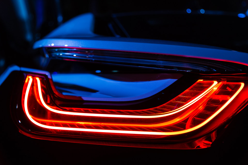 Light Of The Future The Bmw I8 Tail Light Turned On Outd Flickr