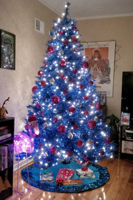 by zombie leah my blue christmas tree by zombie leah
