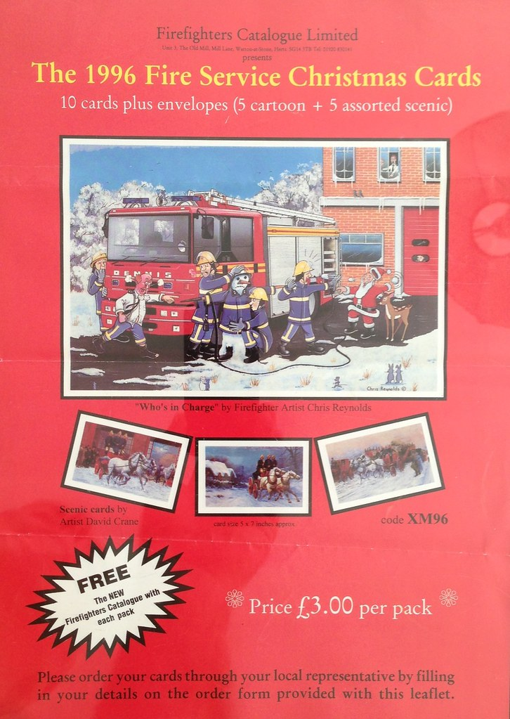 Old Advertising Material - The 1996 Fire Service Christmas… | Flickr
